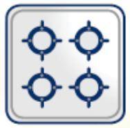 Aragaz HEINNER HFSC-V50BRW, 4 zone de gatit, gaz, maro
