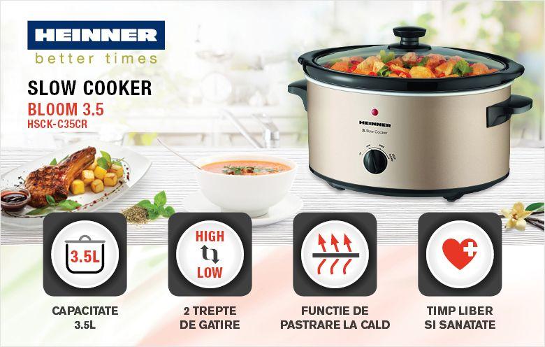 Slow cooker HEINNER HSCK-35CR
