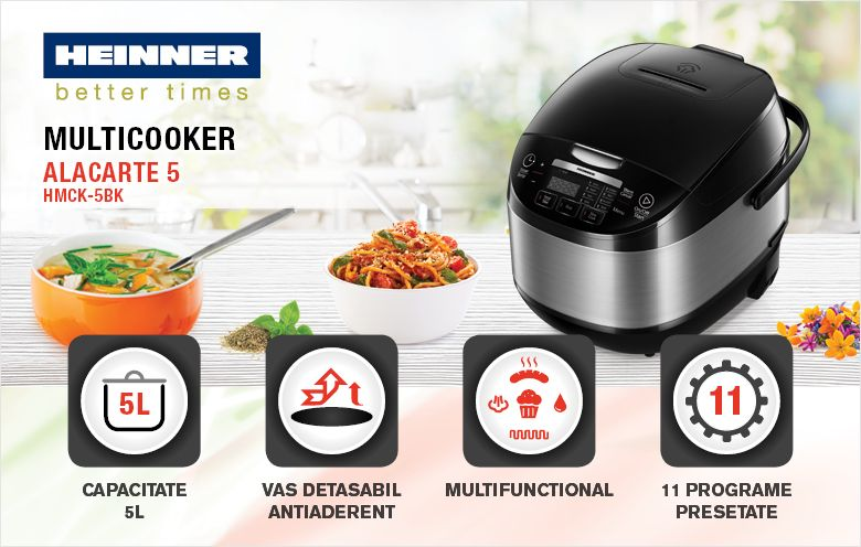 Multicooker HEINNER Alacarte 5 HMCK-5BK