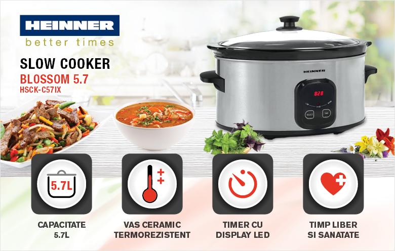 Slow cooker HEINNER HSCK-C57IX