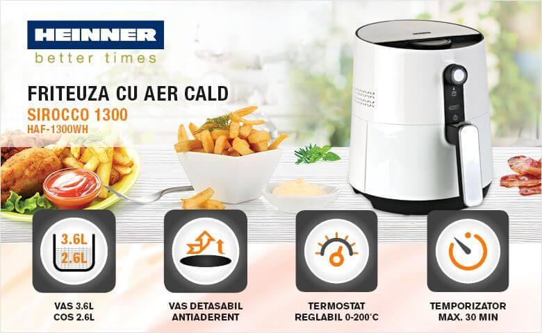 Fiteuza cu aer cald Heinner HAF-1300WH