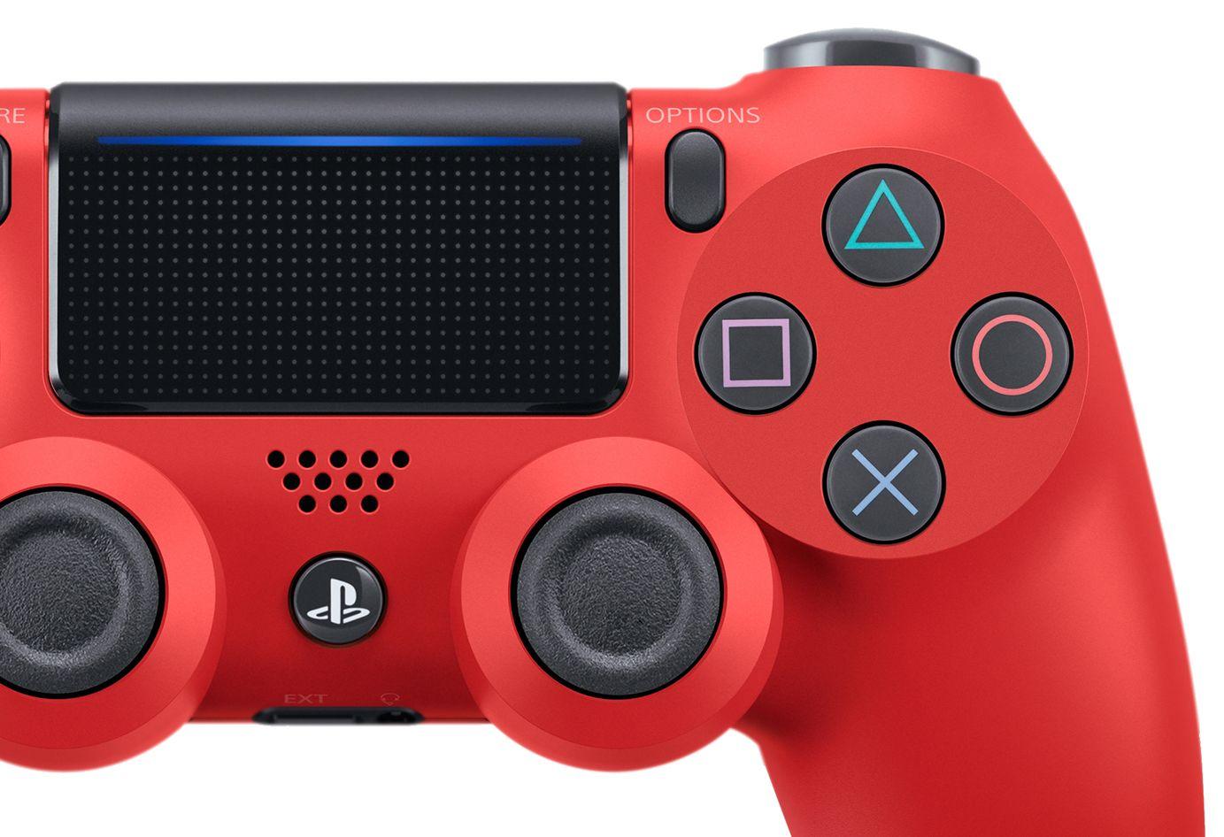 Controller SONY Dualshock 4 V2 pentru PlayStation 4, Magma Red