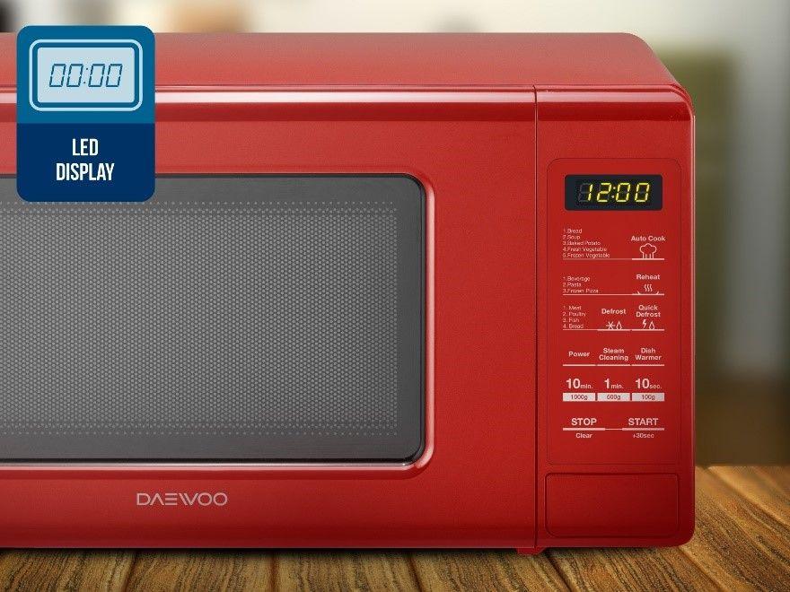 Cuptor cu microunde DAEWOO KOR-6S4DBI, capacitate 20l, 800 W, argintiu