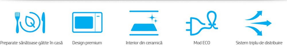 Cuptor cu microunde SAMSUNG MS23F301TAS/OL, 23l, 800W, Argintiu
