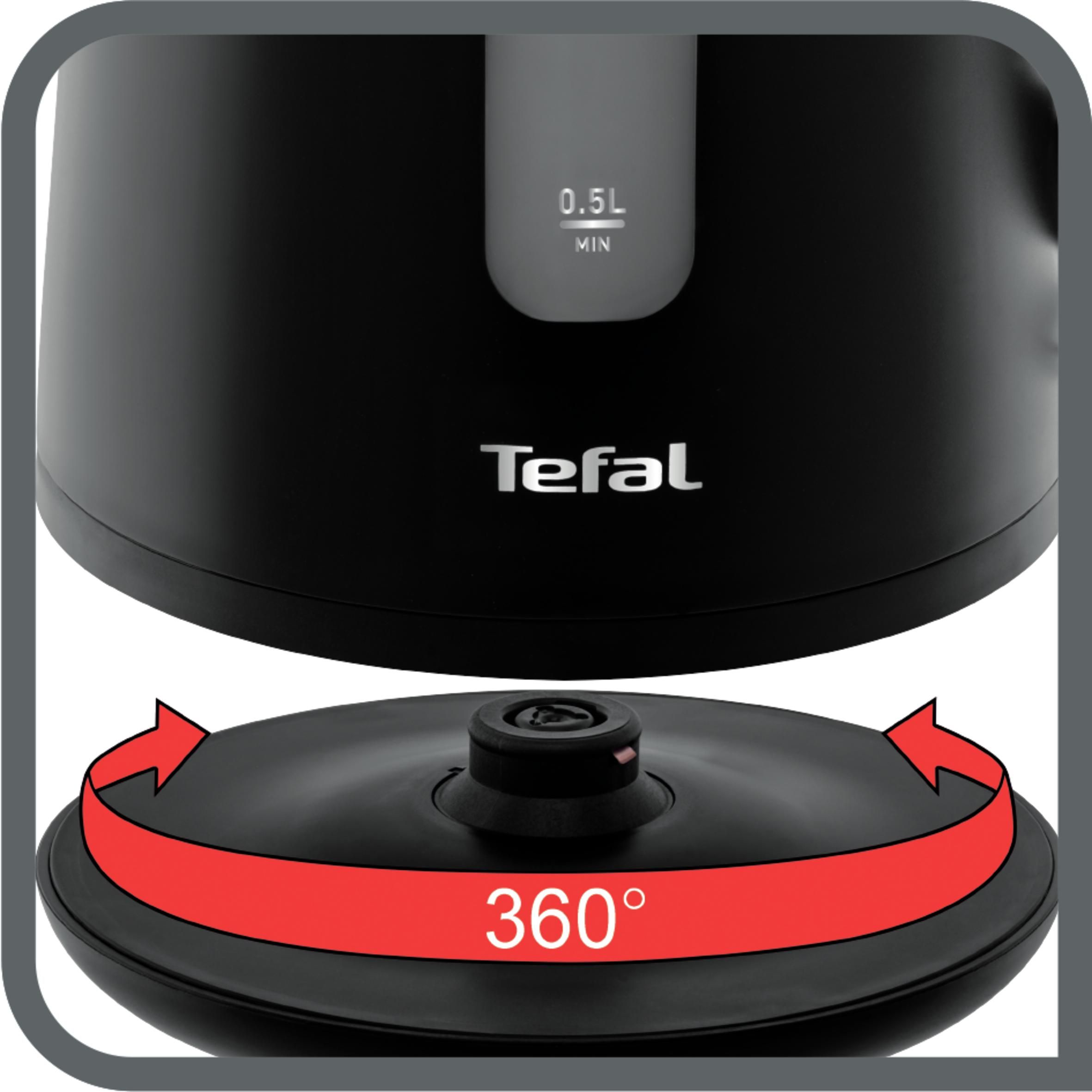 Fierbator de apa TEFAL Element KO200830, capacitate 1.7l, 2400 W, negru