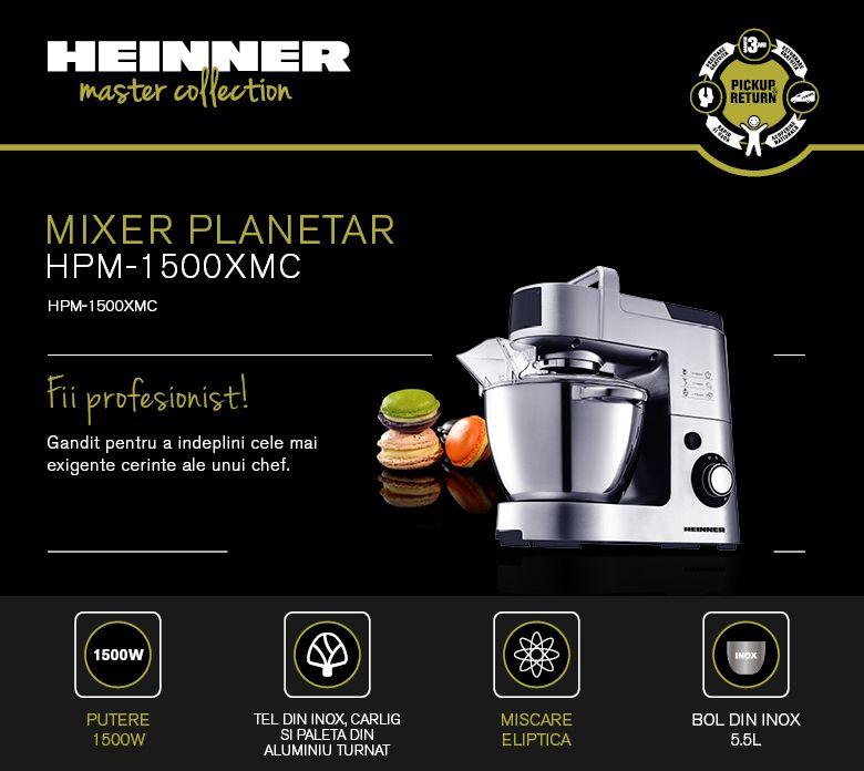 Mixer planetar Heinner HPM-1500XMC