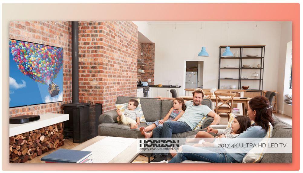 """Televizor LED HORIZON 43HL7520U 43"""" (109 cm), Plat, 4K (UltraHD), Negru"""