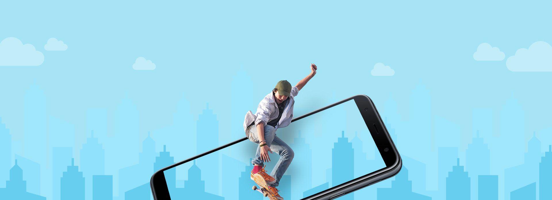 Telefon SAMSUNG Galaxy J4 Plus 2018, negru