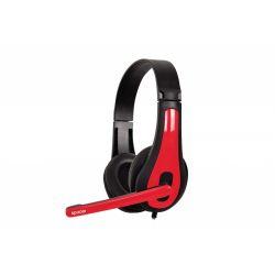 Casti cu microfon SPACER SPK-507 3.5mm Rosu/Negru