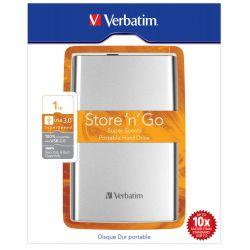 HDD 1TB VERBATIM EXTERN 2,5'' USB 3.0, ARGINTIU, 53071