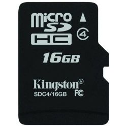 MEMORIE MICRO SD 16GB KINGSTON CLASS 4