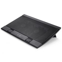 "Stand notebook DeepCool 17""  - 2* fan 140mm, 4* USB, plastic & metal, black, control turatie, design anti-alunecare ""WINDPAL"" - DEEPCOOL"