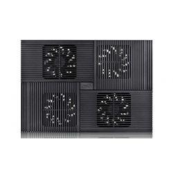"""Stand notebook DeepCool 17"""" -  4* fan 100mm, 2* USB, plastic & aluminiu, black, 4* setari """"MULTI CORE X8"""""""