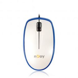 Mouse cu fir NJOY L360 BlueTrace, alb, optic, USB