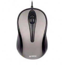 Mouse cu fir A4TECH V-track Padless N-350-1, gri, optic, USB
