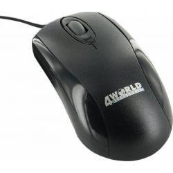 Mouse cu fir 4WORLD Basic 3 06713, negru, optic, PS2