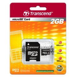 Memorie micro SD card 2GB TRANSCEND + Adaptor