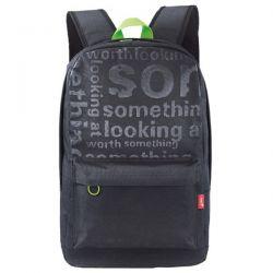"Rucsac laptop GENIUS GB-1500X, negru/verde, 15.6"""