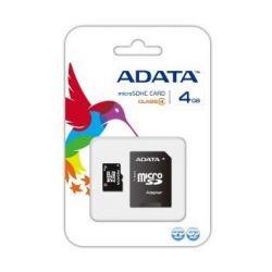 Card de memorie ADATA MicroSDHC Clasa 4 4GB + adaptor SD