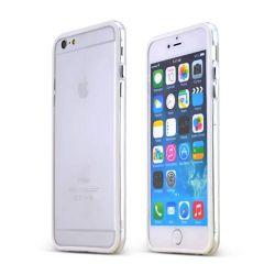 Bumper Silicon Tpu pentru Apple iPhone 6/6S Alb
