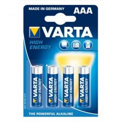Baterie Alkalina VARTA AAA LR3 High Energy