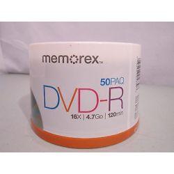 DVD-R Memorex, 16X, 4.7GB, 120MIN