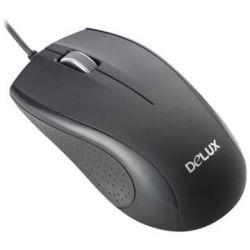 Mouse cu fir DELUX DLM-136BU, negru, optic, USB