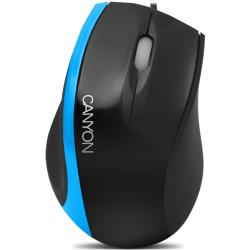 Mouse cu fir CANYON CNR-MSO01NBL, negru/albastru, optic, USB