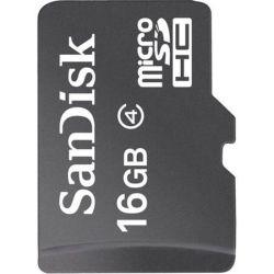 Card de memorie SanDisk microSDHC, 16GB, Clasa 4
