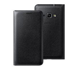 Husa Flip Wallet SAMSUNG pentru Galaxy J1 2016 Neagra