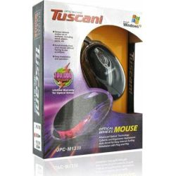 Mouse cu fir 4WORLD Tuscani Mini, negru, optic, USB