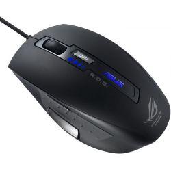Mouse gaming cu fir ASUS ROG GX850, negru, laser, USB