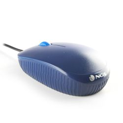 Mouse cu fir NGS Flame, albastru, optic, USB