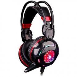 Casti cu microfon A4Tech Bloody Combat G300 negru/rosu
