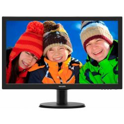Monitor LED PHILIPS 243V5QHSBA/00 23.6 inch 8ms Negru