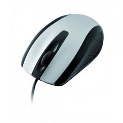 Mouse cu fir I-BOX Finch, argintiu, optic, USB/PS/2
