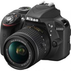 Aparat Foto DSLR NIKON D3300 24.2MP Negru + Obiectiv AF-P 18-55mm VR