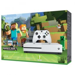 Consola MICROSOFT Xbox One Slim 500GB + joc Minecraft