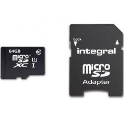 Card de Memorie INTEGRAL UltimaPro Micro SDHC/XC  64GB CL10 + Adaptor