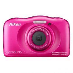 Aparat Foto Compact NIKON Coolpix Waterproof W100 Roz + rucsac