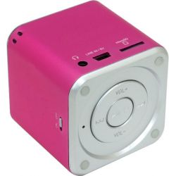 Boxa Portabila MUSIC ANGEL alimentare USB, Radio Fm, Suport TF(Micro SD), U-Disk Roz