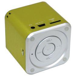 Boxa Portabila MUSIC ANGEL alimentare USB, Radio Fm, Suport TF(Micro SD), U-Disk Verde