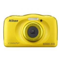 Aparat Foto Compact NIKON Coolpix Waterproof W100 Galben + Rucsac