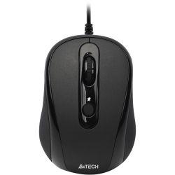 Mouse cu fir A4TECH V-track Padless N-250X-1, negru, optic, USB