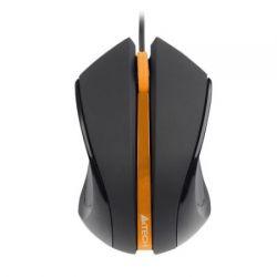 Mouse cu fir A4TECH V-track Padless N-310-1, negru/portocaliu, optic, USB