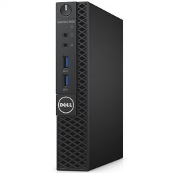 Dell Optiplex 3050 Micro Form Factor, Intel Core i3-7100T (3MB Cache, 3.5GHz), 4GB (1x4GB) DDR4 2400MHz, 500GB 2.5inch SATA (7200rpm), Intel Graphics, no-DVD, WiFi 3165AC, Blth, Dell USB Optical Mouse, KB216 Keybd, Ubuntu, 3Yr NBD