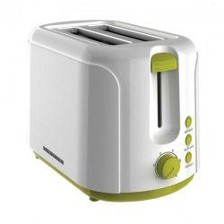 Prajitor de paine HEINNER Charm TP-750GR, 2 felii, 750W, alb/verde