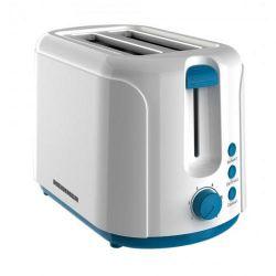 Prajitor de paine HEINNER Charm TP-750BL, 2 felii, 750W, alb/albastru