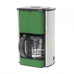 Cafetiera HEINNER Silicon HCM-SIL1080, capacitate 1.5L, cesti 12-15, 1080W, verde/gri