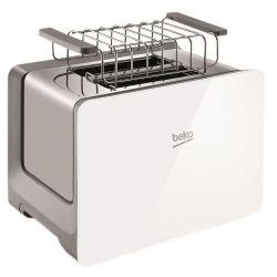 Prajitor de paine BEKO TAM6202W, 2 felii, 870W, alb